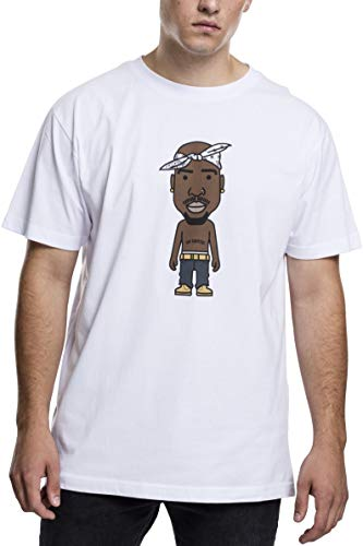 Mister Tee Herren LA Sketch T-Shirt, White, M