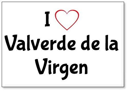 Mundus Souvenirs - Amo Valverde de la Virgen, Imán para Nevera (diseño 2)