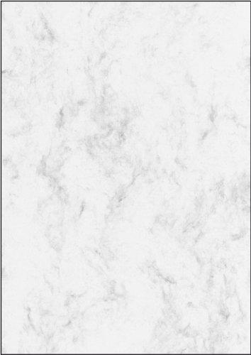 SIGEL DP396 Marmorierter Karton / Marmor-Papier grau, A4, 50 Blatt, Motiv beidseitig, 200 g - weitere Farben