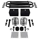 Supreme Suspensions - Full Lift Kit for 2005+ Ford F250 F350 Super Duty w/OVERLOADS 3' Front Lift Spring Spacers + 3' Rear Lift Blocks + UBolts + Brake Line Brackets + Bump Stop Spacers 4WD (Silver)