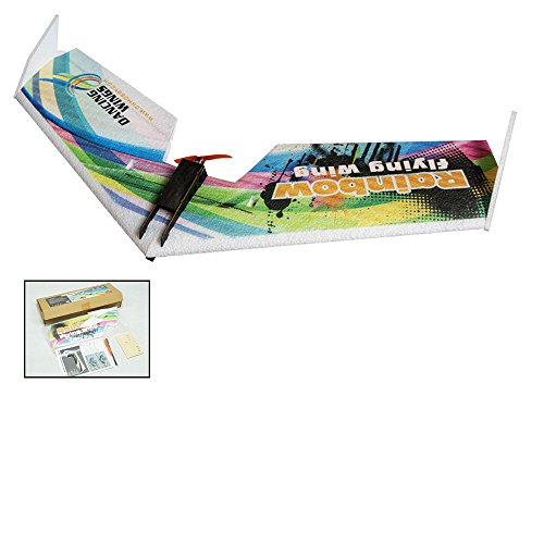 DW Hobby Upgrade 3CH EPP Electric Micro Flying Wing Rainbow V2 ZAGI Plane w/800mm Wingspan Delta Wing Tail-Pusher Flying Aircraft Kit to Build for Adults (E0511)