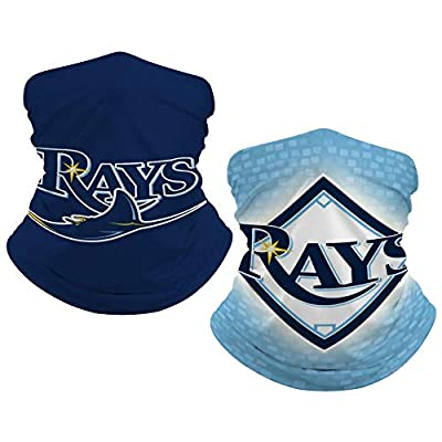Tampa Bay Devil Rays 2 PCS Kids Bandana Face Cover Reusable Outdoor Neck Gaiter Covers for Teen Boys Girls