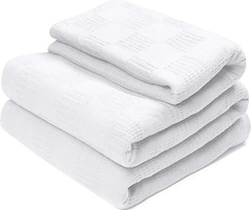 Utopia Bedding Premium Summer Cotton Blanket King White - Soft Breathable Thermal Blanket - Ideal...