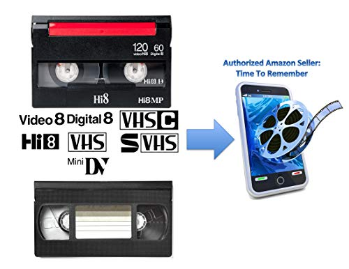 Video Tape Transfer Service (VHS, Hi8, Video 8, 8mm, VHS-C, MiniDV) to Digital MP4