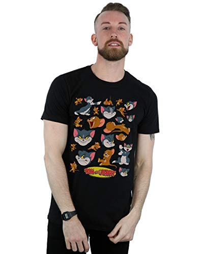 Absolute Cult Tom and Jerry Hombre Many Faces Camiseta