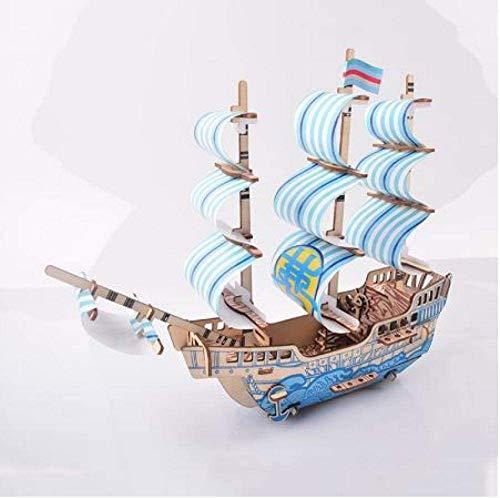 RUXMY Decoración Modelo de velero Modelo de Barco de ensueño velero Modelo Educativo 3D para niños Adultos Modelo de Madera DIY Barcos de Vela Juguetes