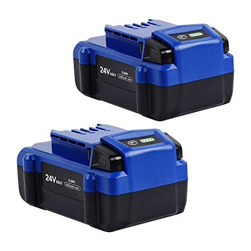 2PACK DSANKE 24V 5.0Ah Lithium-ion Battery for Kobalt 24V Max KB624-03 KB524-03 KB424-03 KB224-03 KB124-03 0673802 1051230 Lithium Ion Cordless Tools Battery