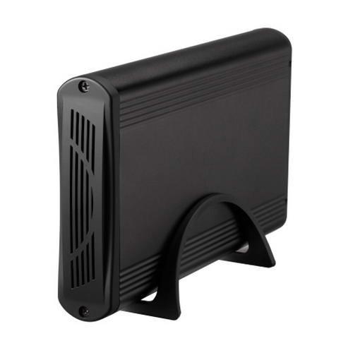 """TooQ TQE-3518B - Carcasa para discos duros HDD de 3.5"""", (IDE y SATA I/II/III, USB 2.0), aluminio, indicador LED, color negro, 350 grs."""