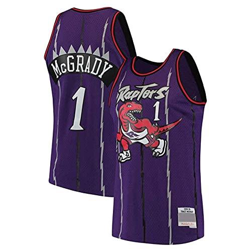 KKSY Jersey Tracy McGrady # 1 Retro NBA Jersey Toronto Raptors Baloncesto Jersey Sin Mangas Entrenamiento Ropa Deportiva,A,S