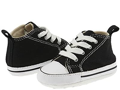 Converse Kids Chuck Taylor(r) First Star Core Crib (Infant/Toddler) (Black/White) Kids Shoes