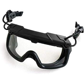 SHENKEL 曇らないレンズ ヘルメットレール 取り付け型 ゴーグル ブラック 黒 軽量 ARCレイル対応 サバゲー ペイントボール