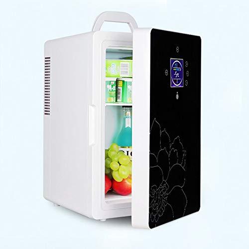 YELLAYBY Quick Cooling DC-005 Car refrigerator 16L dual-core LCD display temperature control small refrigerator Mini home dormitory cosmetic fridge 1pc Mini Portable (Color : White, Plug Type : EU)