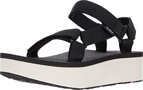 Teva Unisex Ankle Strap Sandal, Black Tan, 6 US Women