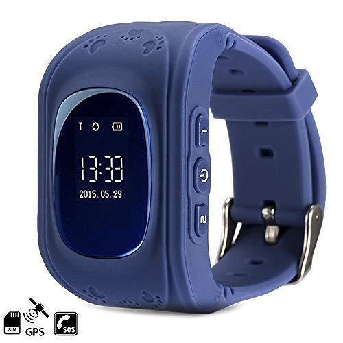 Dam Tekkiwear - Smartwatch con localizador GPS K5 Q50, color azul oscuro