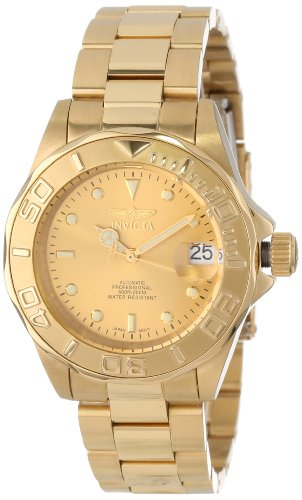 Invicta Men's Pro Diver 40mm Gold Tone Stainless Steel Automatic Watch, Gold (Model: 13929)