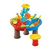 Kid Playa de la Mesa de Juguetes Conjunto y Mesa de Agua al aire libre Jardín Sandbox Set de Juegos de la Mesa de los Niños de Verano de Juguete de Pesca