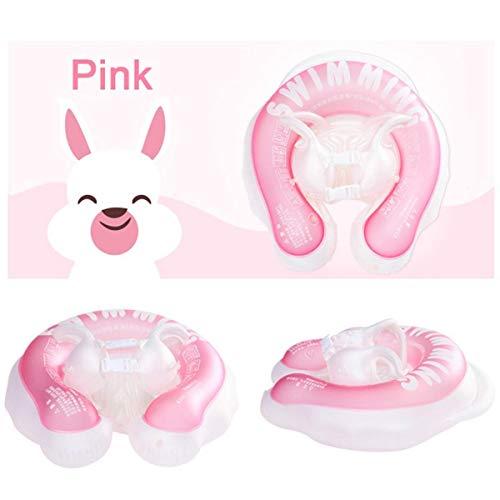 UNIVIEW Flotador bebé del Tubo de Natación Anillo Doble Cubo niños Inflable Swim Trainer Piscina de 6 Airbag de Doble Capa de 1-4 bebé de los años (Color : Pink)
