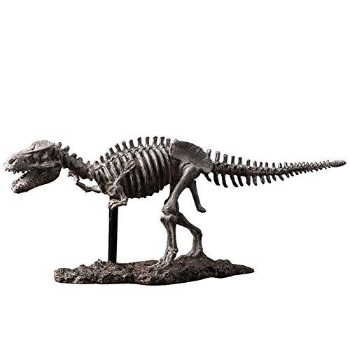 GAOBEI 18inch Vintage Design Tyrannosaurus Rex Dinosaur Skeleton Office Decor Resin Dinosaur Fossil Model Display Craft Teaching Prop