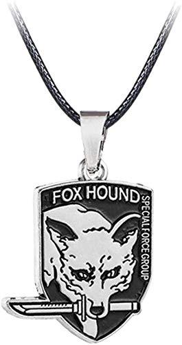 NC83 Fox Hound Zanzibar Land Outer Heaven Logo Halskette für Metal Gear Solid Fans Anhänger Choker Schmuck