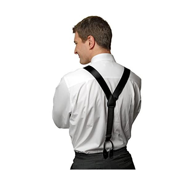 Hold'Em 100% Silk Suspenders For Men Y-Back Button End Made in USA – Many Colors and Designs