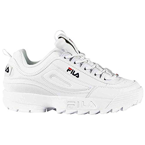 Fila Damen-Sneaker Disruptor Low Wmn 1010302-12v Top, Weiß - French Navy French Red - Größe: 38/38.5 EU