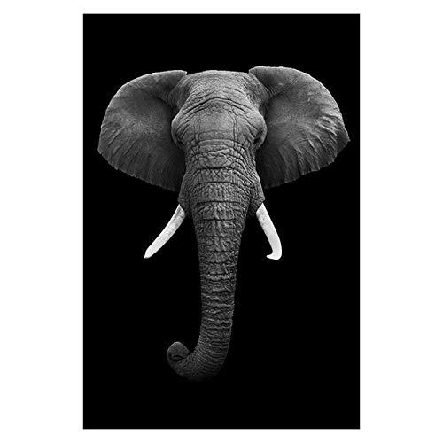 Geiqianjiumai Leinwand malerei Tier wandkunst löwe Elefant Hirsch Zebra Poster und Druck Wohnzimmer Dekoration wandmalerei