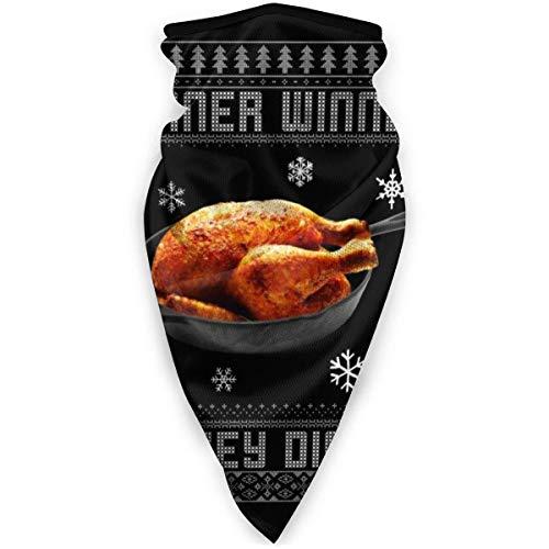 Yuanmeiju Bandana Winner Turkey Dinner P-U-B-G Christmas Knit Pattern Variety Kopfbedeckung Hals Gamasche Gesicht Schal