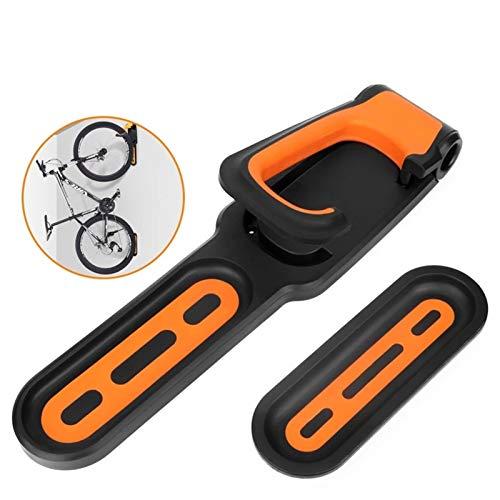 hj 2pcs Soportes de Pared Soporte para Bicicletas, Gancho para Bicicleta Vertical Plegable, Gancho para Colgar Bicicleta en la Pared Paquete para Exhibición de Bicicletas