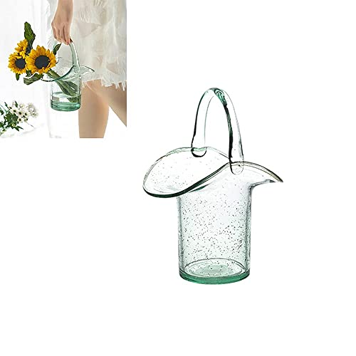 HyiFMY Jarrones de Vidrio for decoración, florero de Flores de Burbujas Creativas, jarrón de Cristal de Escritorio for decoración, Adecuado for centros de Mesa, Cocina, Oficina o Sala de Estar