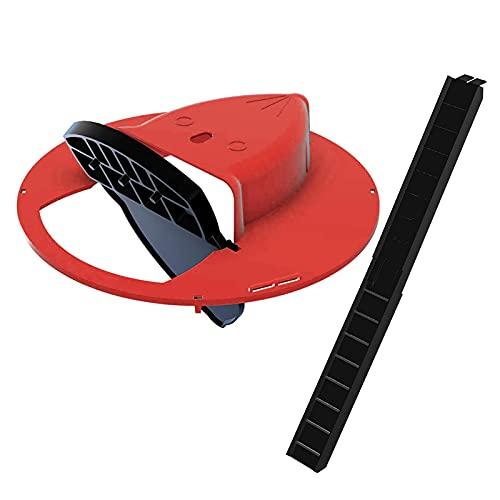 Kstyhome Trampa para ratón Inteligente de plástico Reutilizable, Tapa de Cubo Deslizante y Tapa para ratón, Rata, Trampa para ratón, Trampa Humana o letal, Estilo de Puerta, Captura múltiple