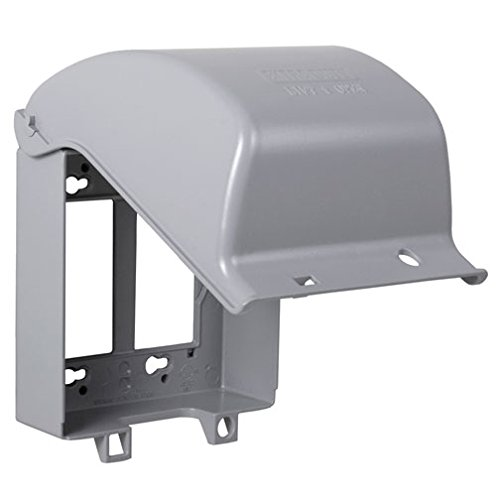 TayMac MX6200 Two-Gang and Double Device Flat Metal Weatherproof In-Use Cover 55 Configurations, Grey Finish