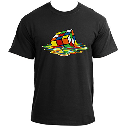 Melting Cube 80s or Big Bang Theory Themed T-shirt, many colours, S to XXL