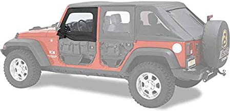 Bestop 51805-35 Black Diamond HighRock 4X4 Element Door Upper Fabric Door Set for 2007-2018 JK Wrangler - Front