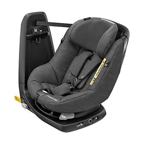 Maxi-Cosi Axissfix Silla de coche giratoria 360° isofix, silla auto reclinable y contramarcha para bebés 4 meses - 4 años, color nomad black