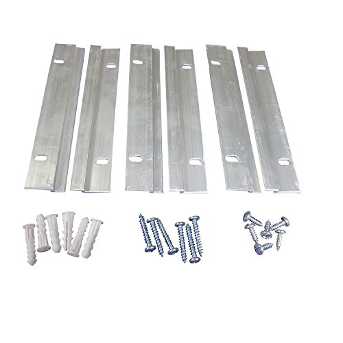French Cleat Picture Hanger Kit 6 Inch - 50 Pairs - Small Z Bar Hanger Supports 50 lbs - Z Clip Mirror Hanging Hardware