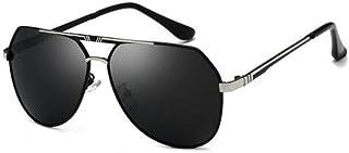 OUHUI - Gafas De Sol Para Moto Gafas De Sol Aviador Hombre Mujer Polarizadas Con Espejos UV400 Montura Lisas Hombre Mujer Conducir, Pescar, Golf, Correr, UV400,