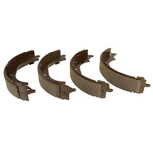 Detroit Axle - Rear Ceramic Brake Shoes for 2009 2010 2011 2012 2013 Chevy Silverado 1500/ GMC Sierra 1500 Rear Drum Brake Models ONLY