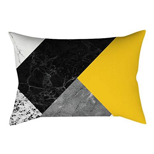 Tyoby Kissenbezüge Exquisite Verarbeitung Heimtextilien Dekoration Schlafzimmer Sofa Bettwäsche Kissen Set(E,30x50cm)