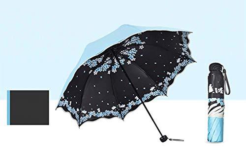 GLYHVXZ Sonnencreme-DREI-facher Regenschirm/Anti-UV-Regenschirm, Fast unattraktives Windmlast, automatisch offen/in der Nähe, Anti-Skid-Griff, einfach zu tragen,C