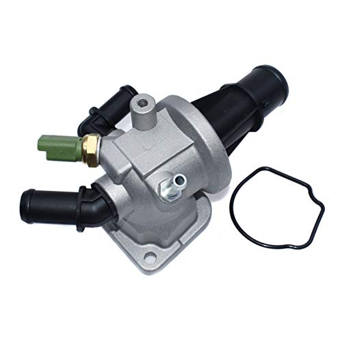 Thermostat Housing 1.3 / Fit For - Opel/Fit For - Vauxhall/Agila Combo Cora Meriva Tigra 55224021 93177343 55182499 1338841 6338022 (Color : Silver)