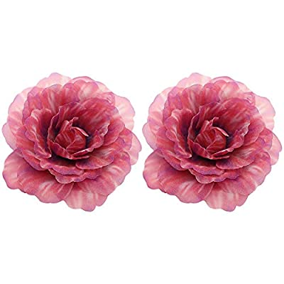 Amazon - Save 50%: Womens Flower Rose Hair Clip – 2Pcs 2.9inch Hairpin Rose Brooch for Bridal He…