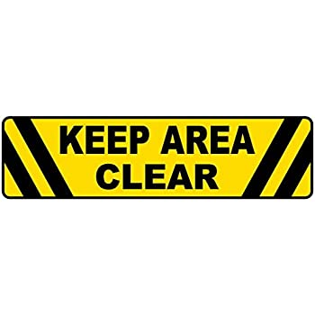 Keep Area Clear Anti Slip Adhesive Floor Sign By SmartSign 6 x 24 Lyle Signs SF-0075-FO-24