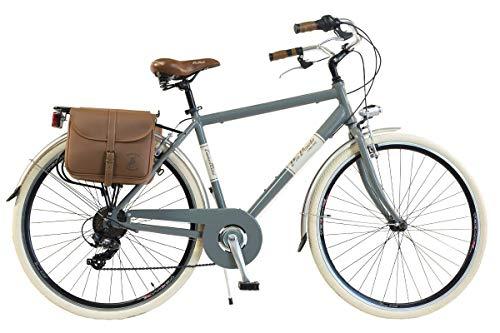 Via Veneto by Canellini Bicicletta Bici Citybike CTB Uomo Vintage Retro Via Veneto Alluminio Grigio Taglia 54