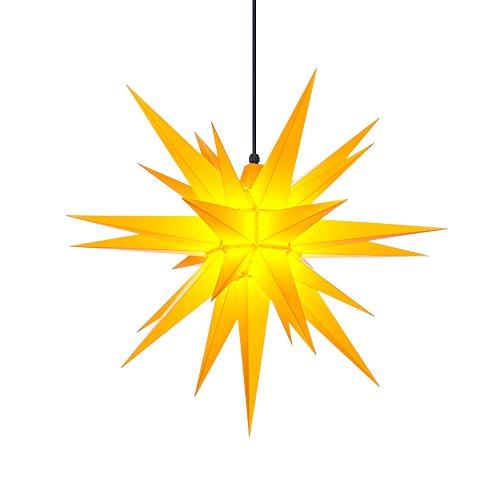 Herrnhuter Sterne Stern für Außenbereich 68cm, gelb, mit Beleuchtung