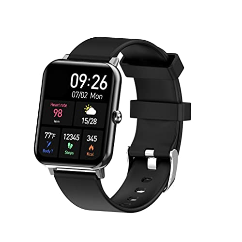 JSSEVN Reloj inteligente, F15 Pro, rastreador de fitness de 1,69 pulgadas, reloj deportivo impermeable IP67, pantalla a color, frecuencia cardíaca, sueño, estrés para hombre y mujer