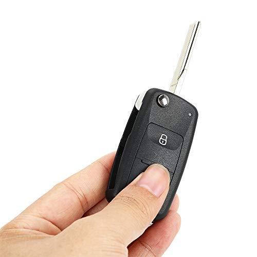 Reemplazo automático de la Carcasa de la Llave del Coche a Distancia Plegable para Volkswagen VW Tiguan Golf Polo 2 Botones Flip Key Case Fob