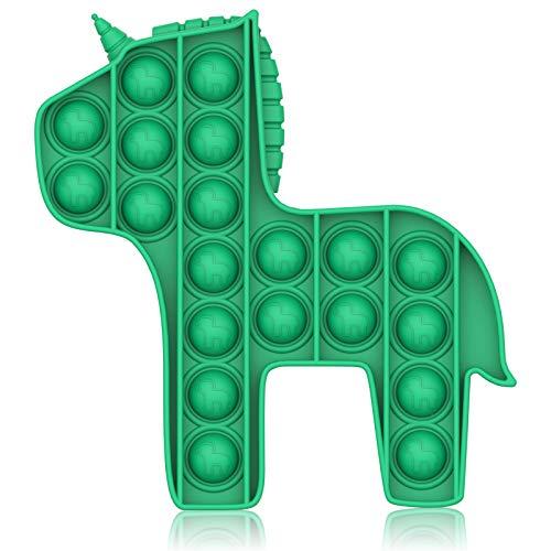 Bdwing Push and Pop Bubble Fidget Toy, Juguete Antiestres Educativo para aliviar el estrés, Necesidades Especiales silenciosas Aula para niños (Verde Caballo)