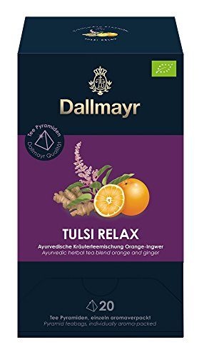 Dallmayr Teepyramide Tulsi relax Bio, 1er Pack (1 x 50 g)