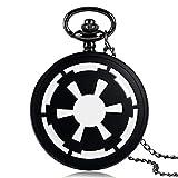 Star Wars - Reloj de bolsillo para hombre, diseño de imperio galáctico