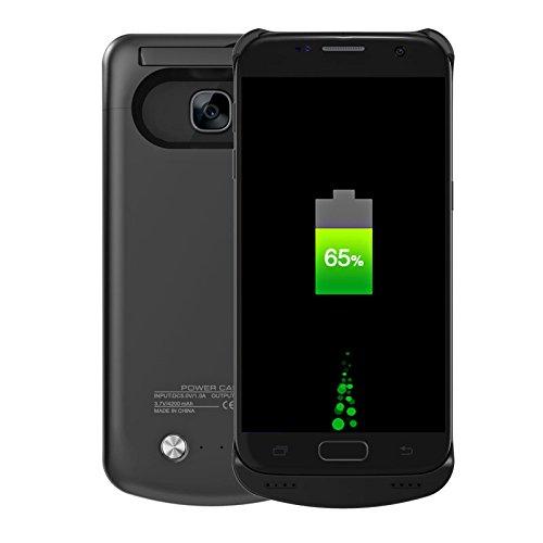 BasicStock Samsung Galaxy S7 Akku Hülle, Ultra Dünn Batterie Hülle 4200mAh Externer Akku Case Aufladbar Batterie Ladehülle Integrierten Ersatzakku Ladegerät Power Bank Backup